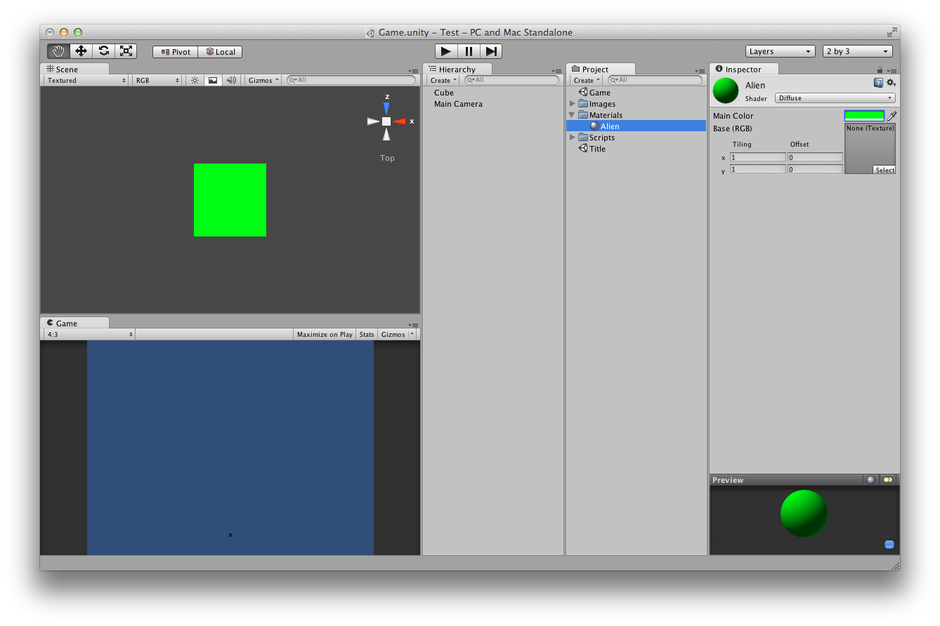 Unity Tutorial - Alien Attack (Part One) | nathandemick com